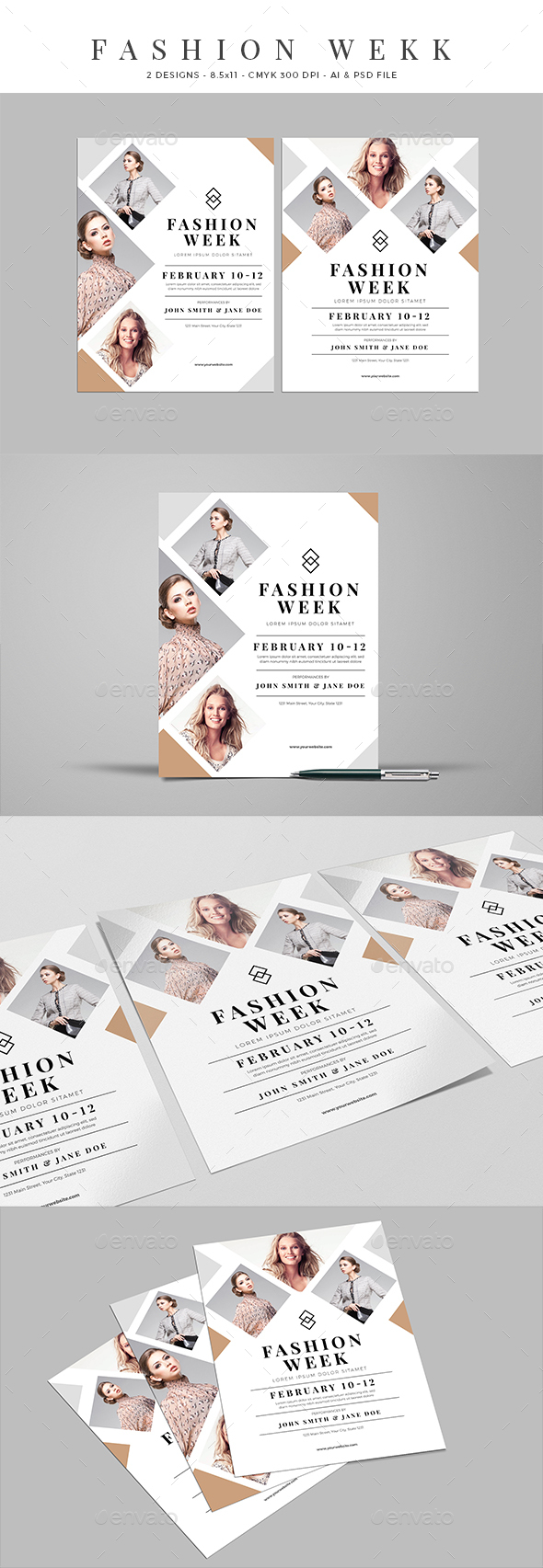Clean Fashion Week Event Flyer - Events Flyers