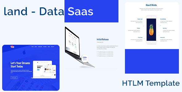 ThemeForest Land App Data SaaS Software Multipurpose Landing Page HTML Template 20741557