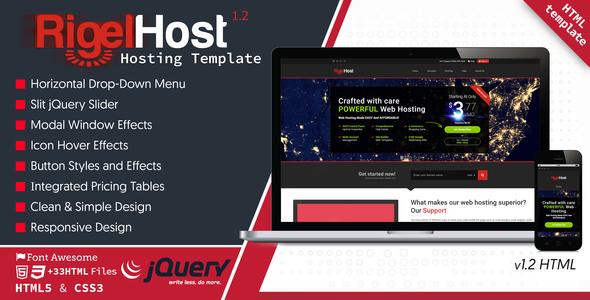 RigelHost - Responsive Hosting HTML5 Template