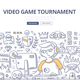 Video Game Tournament Doodle Concept - GraphicRiver Item for Sale