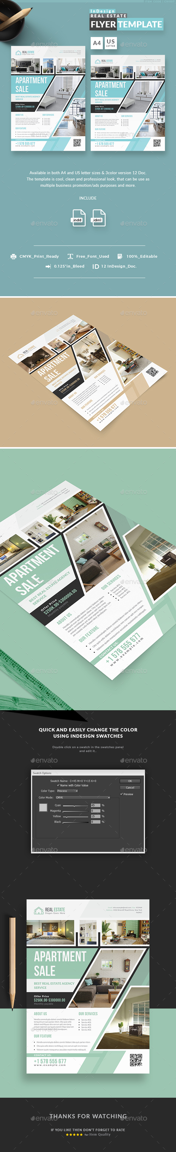 Real Estate InDesign Flyer Templates - Corporate Flyers