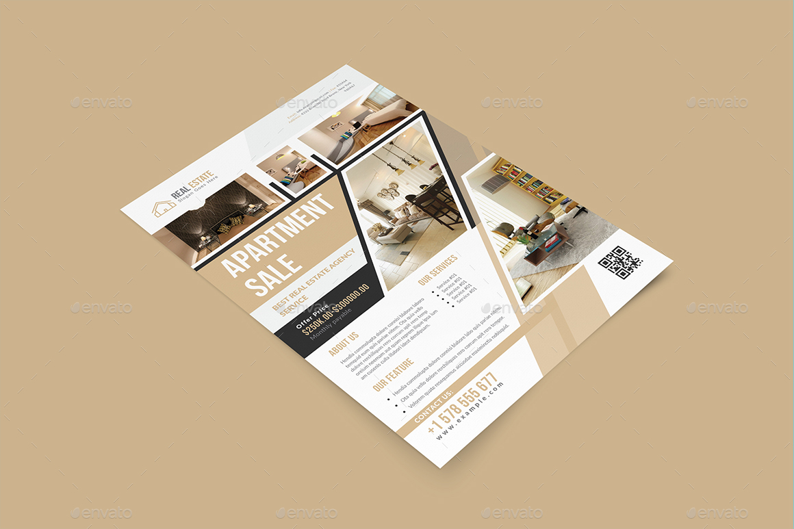 real estate indesign flyer templates by graphhost