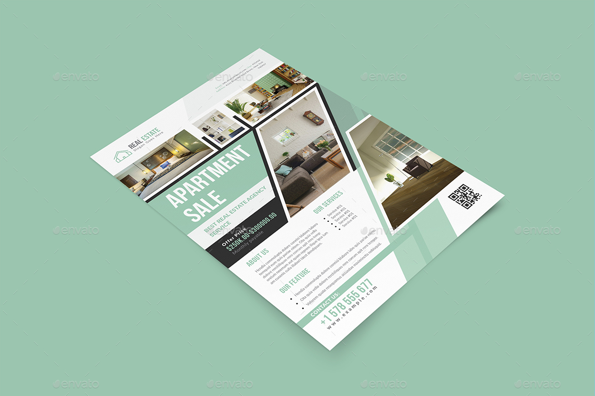 Real Estate Indesign Flyer Templates By Graphhost Graphicriver