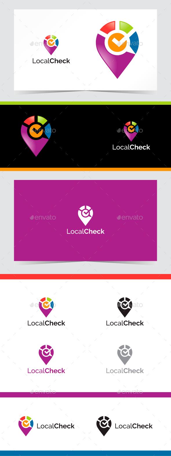 Local Check Logo - Symbols Logo Templates