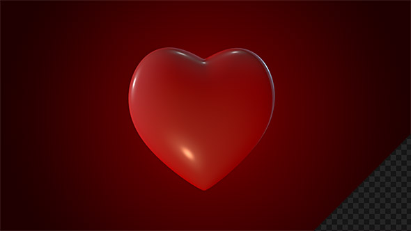 Rotating Red Heart Symbol By Vf Videohive