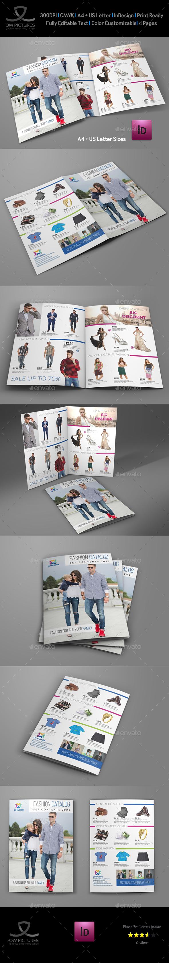 Fashion Catalog Bi-Fold  Brochure Template - Catalogs Brochures