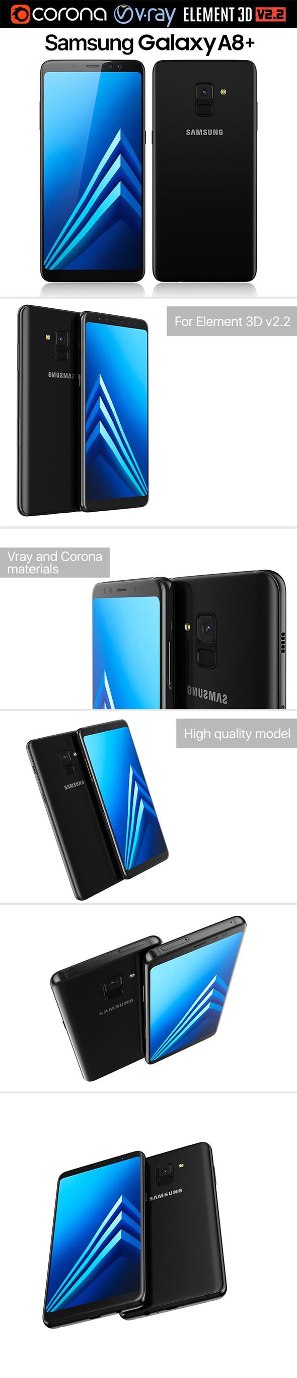 Samsung Galaxy A8 PLUS Black - 3DOcean Item for Sale