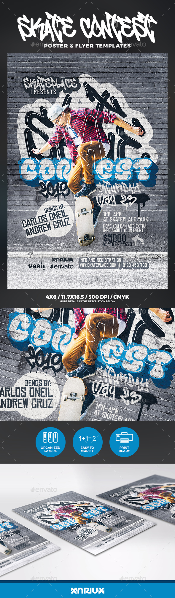 Skate Contest Flyer & Poster - Sports Events
