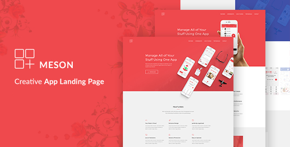 Meson - App Landing WordPress Theme - Technology WordPress