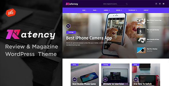 Ratency - Review & Magazine Theme - News / Editorial Blog / Magazine