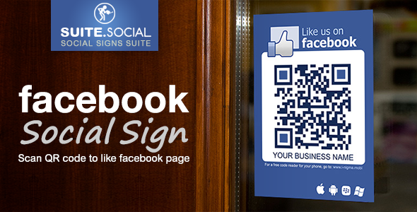 Social Sign - Facebook Like - for shops, venues and events - CodeCanyon Item for Sale