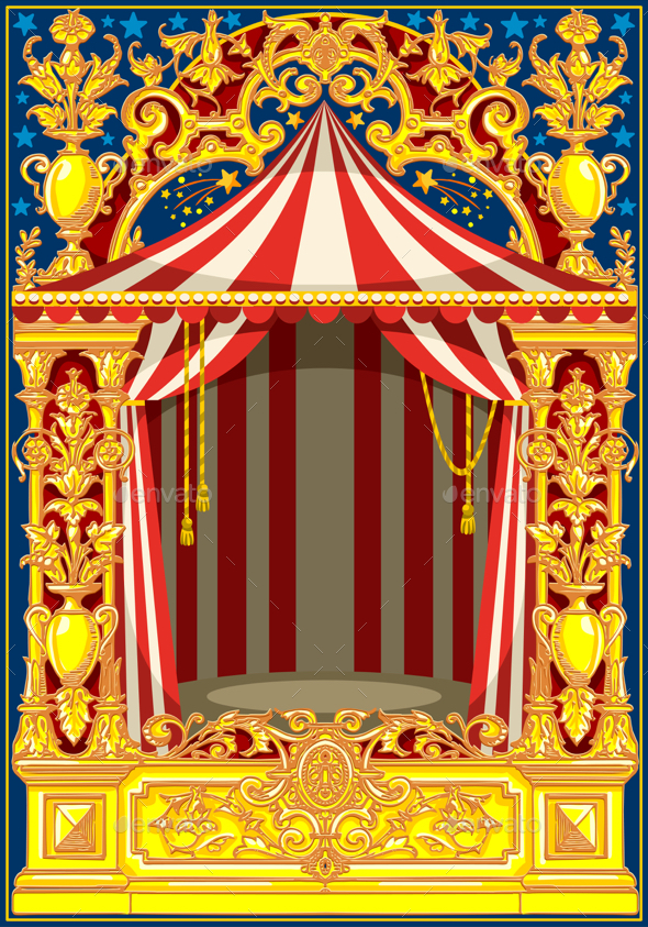 Vintage Circus Poster Background Carnival Poster...