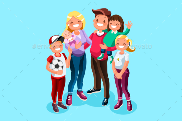 Family Character Vector - People Characters