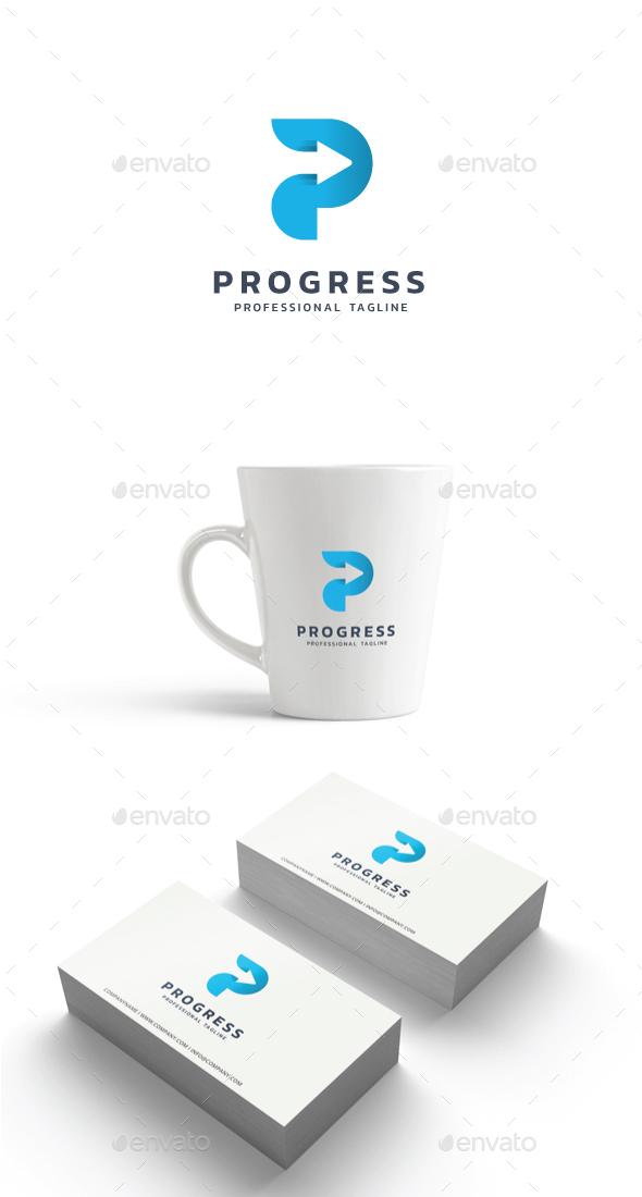 Letter P - Progress Logo - Letters Logo Templates