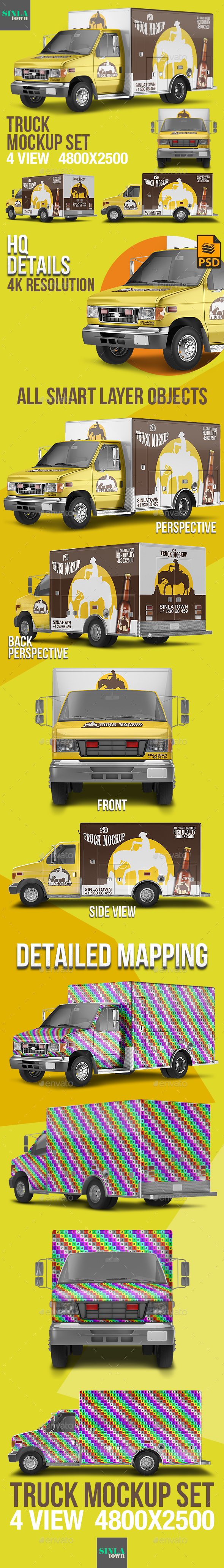 PSD Truck Mockup - Vehicle Wraps Print