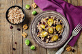 Roasted Brussels sprouts dried cranberries walnuts barley salad - PhotoDune Item for Sale
