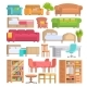 Furniture Vector Furnishings Design of Bedroom - GraphicRiver Item for Sale