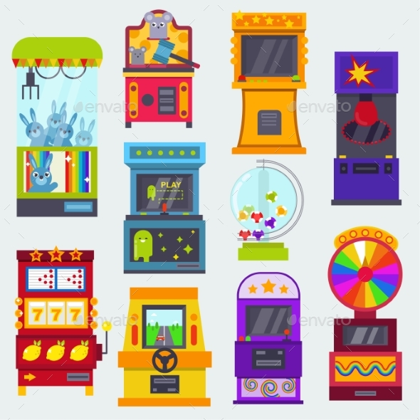 Game Machine Vector Arcade Gambling Games - Computers Technology