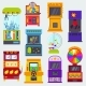 Game Machine Vector Arcade Gambling Games - GraphicRiver Item for Sale