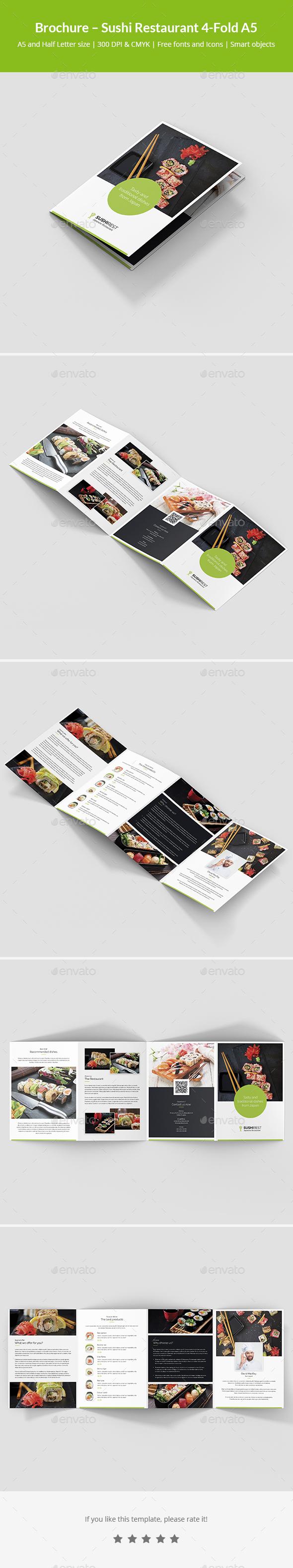 Brochure – Sushi Restaurant 4-Fold A5 - Informational Brochures