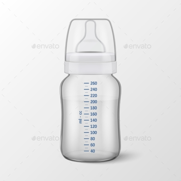 Realistic Vector Baby Bottle - Food Objects