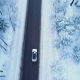 Car Drives on a Winter Road - VideoHive Item for Sale