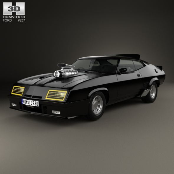 Ford Falcon GT Coupe Interceptor Mad Max 1979 - 3DOcean Item for Sale