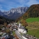 Flight Over Church in Ramsau, Berchtesgaden, Germany - VideoHive Item for Sale