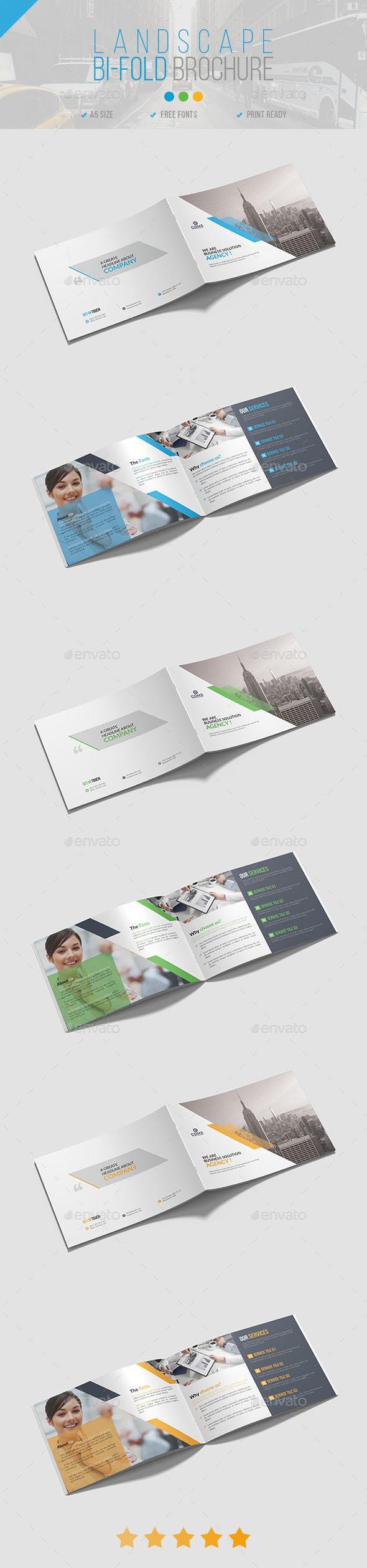 Landscape Bi-Fold Brochure 01 - Corporate Brochures
