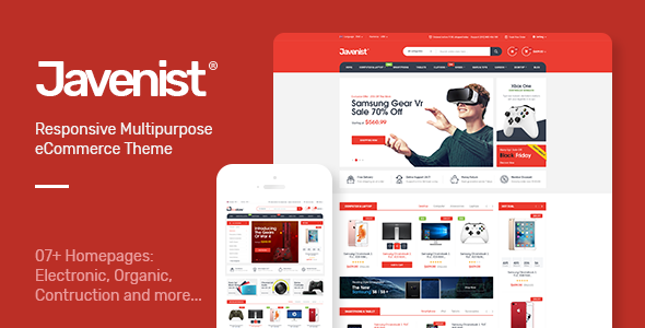 Image of Javenist - Multipurpose eCommerce WordPress Theme