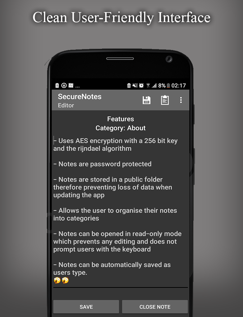 (Android) SecureNotes