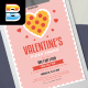 Valentine's Pizza Promo Flyer - GraphicRiver Item for Sale