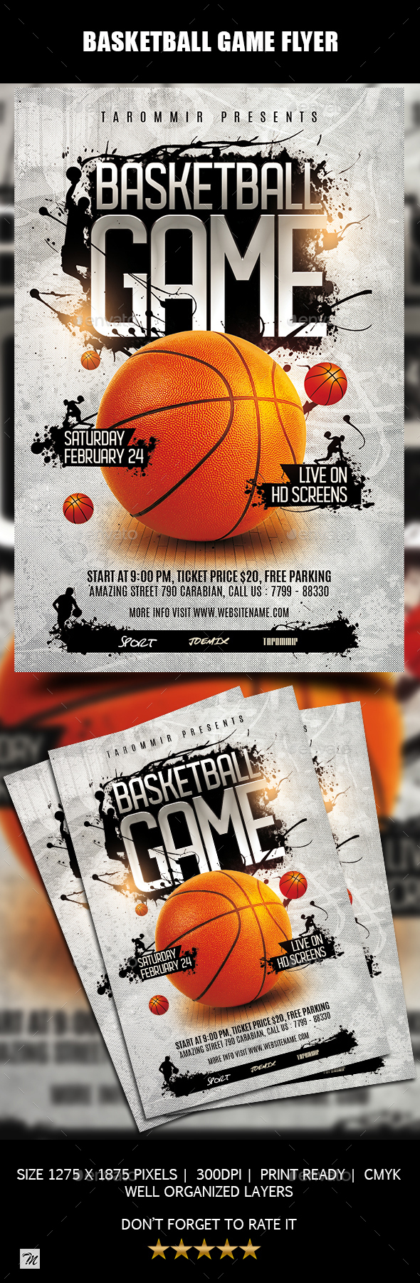 Basketball Game Flyer - Sports Events