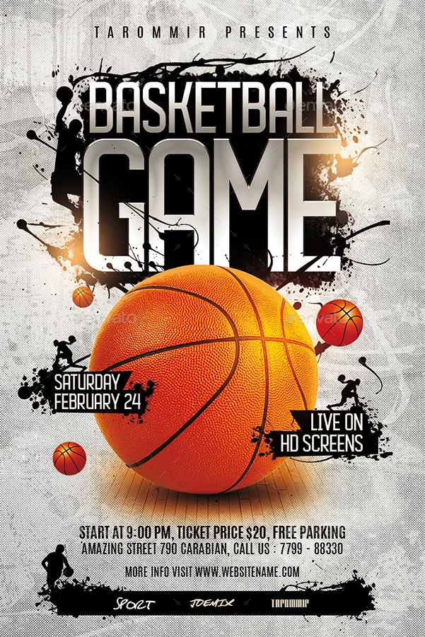 basketball game flyer by tarommir