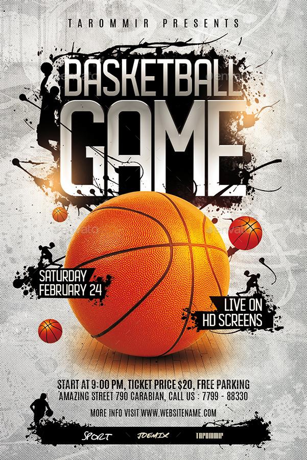 basketball game flyer by tarommir