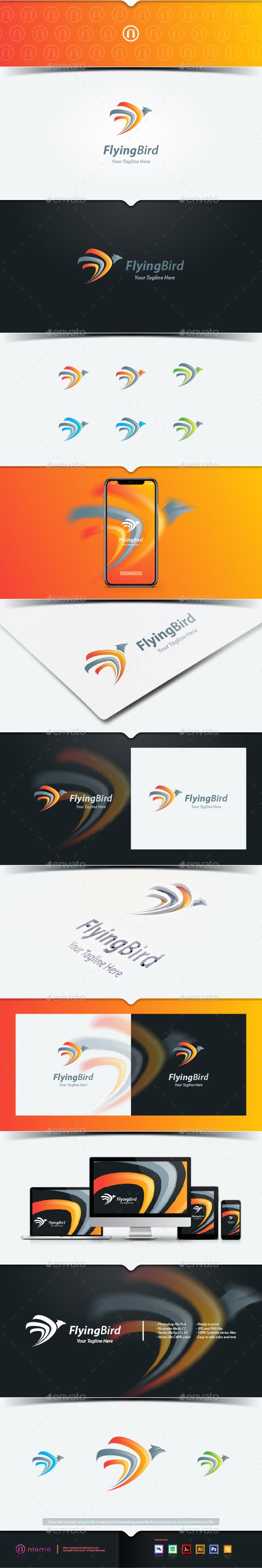 Flying Bird - Animals Logo Templates