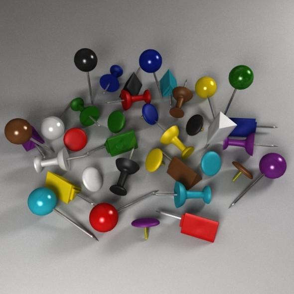 Push Pin Pack - 3DOcean Item for Sale