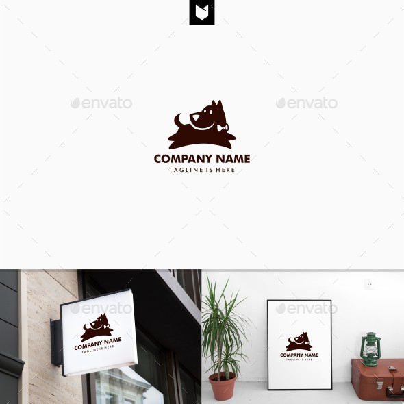 Dog Jump training logo template - Animals Logo Templates