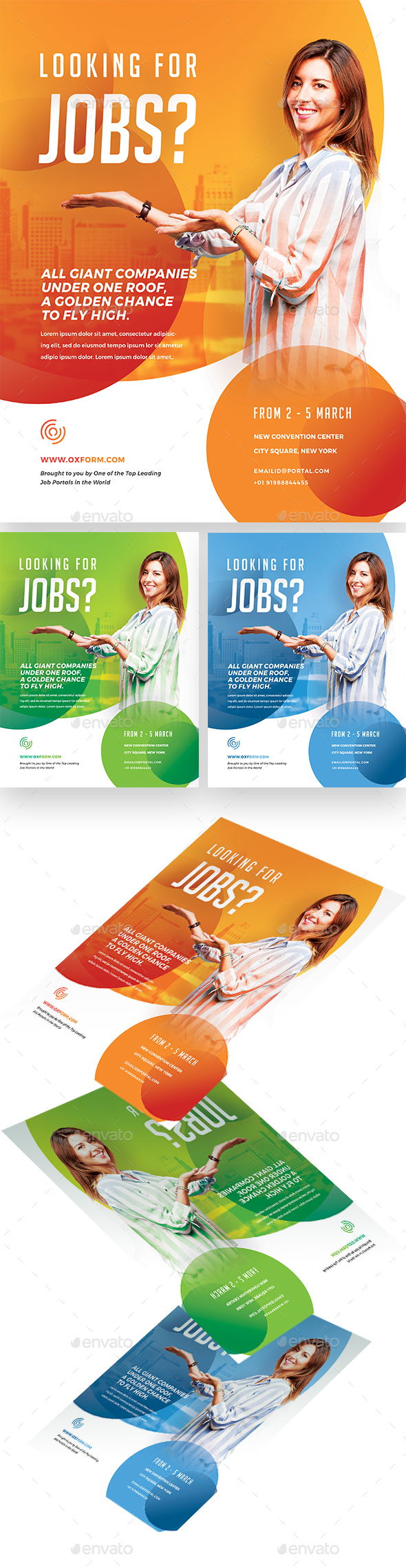 Creative Career Fair Flyer - Events Flyers