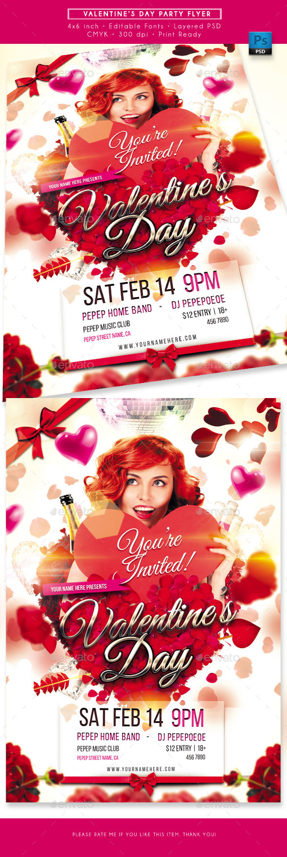 Valentine Day Party Flyer - Holidays Events