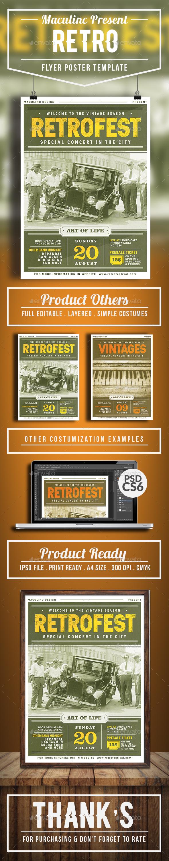 Retro Flyer/Poster Vol. 4 - Concerts Events