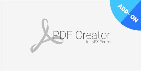 PDF Creator for NEX-Forms - CodeCanyon Item for Sale