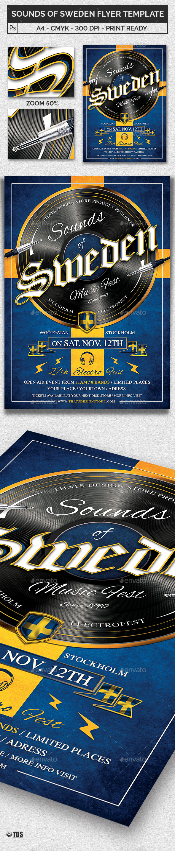 Sounds of Sweden Flyer Template - Clubs & Parties Events