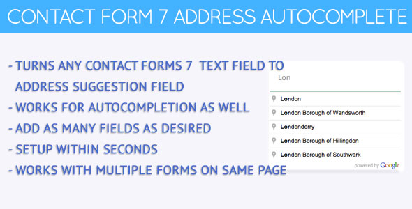 Contact Forms 7 Address Autocomplete - CodeCanyon Item for Sale