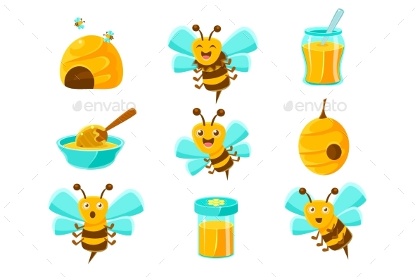 Honey Bees - Animals Characters