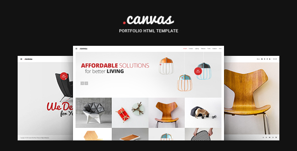 Exceptional Canvas Interior & Furniture Portfolio Template