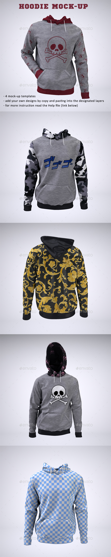 Hoodie Sweatshirt Mock-Up - Apparel Product Mock-Ups
