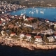 Sunset Flying over Resort Adriatic Town Primosten in Croatia - VideoHive Item for Sale