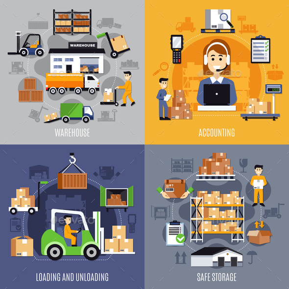 Warehouse Flat Concept - Industries Business