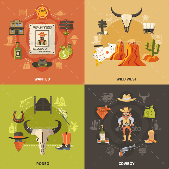 Cowboy Design Concept - Miscellaneous Vectors